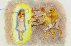 Les Archontes , Le corps éthérique et le corps physique - rusty james news Astral Projection, Corps Éthérique, How To Defend Yourself, Arte Ninja, Les Chakras, Astral Plane, Mudras, Spirit Science, Lucid Dreaming