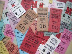 イギリスの使用済み劇場チケット 5枚アソート