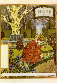Time for La Belle Jardiniere -Mars ,1896  byEugène Grasset  with thanks to Bob Young
