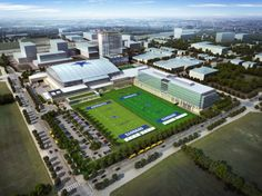 A sneak peek into the Dallas Cowboys new practice facility #DallasCowboys #5PointsBlue