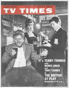 TVTimes London edition August The British at Play Terry Thomas, 1970s Childhood, 24. August, Tv Times, Historical Photos, Magazine Covers, Birmingham, Britain, Magazines