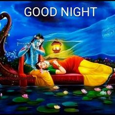 Image may contain: 1 person Good Night Friends Images, Good Morning Gif Images, Good Night Wishes, Good Night Quotes, Beautiful Good Night Images, Cute Good Night, Good Night Sweet Dreams, Lord Krishna Images, Krishna Pictures