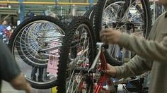 Video: A detailed look at production at Raleigh bicycle factory, including mechanised production lines. Automation, specialisation, quality are covered, as well as deskilling and batch production.