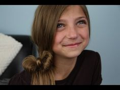 Ponytail Bow | Easy Hairstyles   from CuteGirlsHairstyles