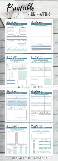 Blog Planner Printable, Planner Template, Planner Pages, Printables, 2015 Planner, Calendar Printable, Bullet Journal Layout, Bullet Journal Inspiration, Social Media Tracker