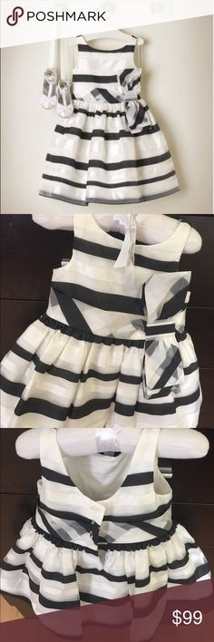 Janie and Jack CAMELLIA SUMMER Black Ruffle Dress OR Red Ribbon Belted Short 3-6
