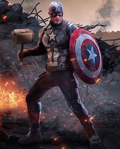 Captain America with Thor Hammer Worthy iPhone Wallpaper Marvel Comics Marvel Dc Comics, Marvel Comic Universe, Marvel Heroes, Marvel Characters, Captain America Art, Captain America Wallpaper, Chris Evans Captain America, Iron Man Avengers, The Avengers