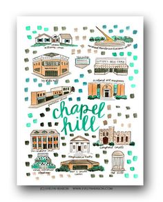Evelyn Henson creates original art and gifts for a brightly decorated life. Evelyn Henson, Nc Map, Original Paintings, Original Art, Chapel Hill Nc, City Drawing, Figure Of Speech, Fine Art Prints, Framed Prints