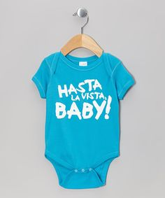 Emblazoned with a savvy reference, this precious pop-cultured piece is sure to incite chuckles and spread knowing smiles. Handy snaps offer quick and easy dressing for astute cuties.