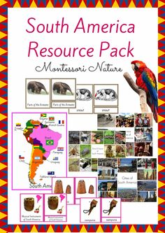 Edit Product: South America Resource Pack for The Montessori Classroom 3-Part Cards
