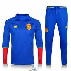 Official Le Nouveau Survetement de foot Espagne Bleu 2016 2017 Soccer  Uniforms, Soccer Shirts, a2b34fb20b80