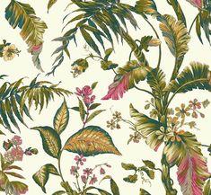 Porto Design  Coleção Ashford Tropics    WALLPAPER ASHFORD TROPICS AT7092    Essa coleção foi inspiradas nas florestas tropicais do caribe, suas cores vibrantes e modernas proporcionam ambientes alegres e descontraídos.