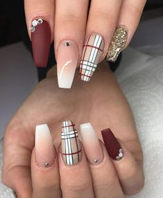Fall nails for black women Sharing my best recommended resources to save you money on hello fresh, Airbnb, picmonkey, host gator and more online retailers. Plaid Nails, Swag Nails, My Nails, Plaid Nail Art, Grunge Nails, Fall Nail Designs, Acrylic Nail Designs, Toe Designs, Holiday Nails