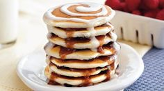 Enjoy these cinnamon pancakes that are made using Bisquick Heart Smart® mix – a perfect breakfast that's ready in 25 minutes.