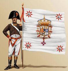 6º Regimiento de Infantería de Linea Málaga. Abanderado