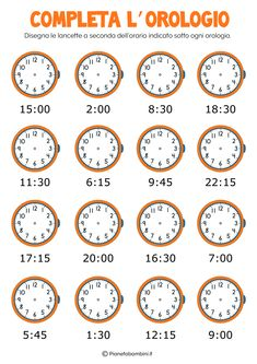 How to Tell the Time Properly in English - ESLBuzz Learning English Clock Worksheets, Worksheets For Kids, Kindergarten Literacy, Math Classroom, Math Clock, Learning English For Kids, Italian Phrases, Esl Lessons, Learn English Words