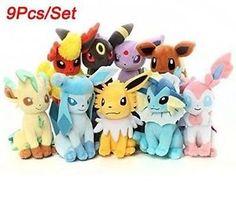 Set of 9 New Pokemon Evolution of Eevee Plush Doll Toy Eeveelution 9pcs | eBay