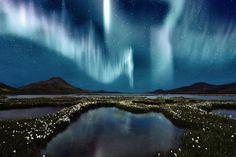 Cielos luces de la Aurora Boreal naturaleza skyscapes-