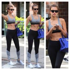 Irina Shayk - gym/workout wear - love those leggings