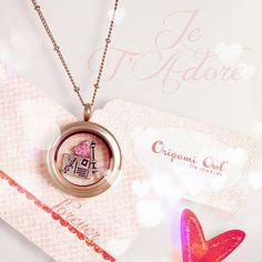 Medium rose gold origami owl living locket