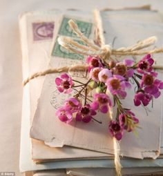 sweet letters with flowers