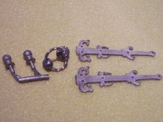 Fancy Door Furniture Set (HW40) - DIY. Over 10,000 similar dolls house miniature products available from www.thedollshousestore.co.uk