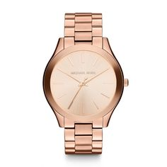 Runway Rose Gold-Tone Stainless Steel Bracelet Watch