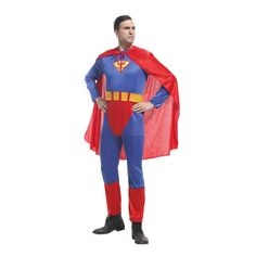 super man super hero suits sets costume cosplay