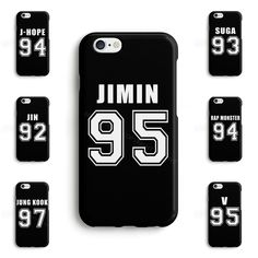 BTS Bangtan Boys JUNG KOOK JIMIN V JIN Kpop Phone Case Cover for iPhone Samsung #SeventyCase