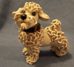 Spaghetti Poodle Figurine | Italian Spaghetti Porcelain Poodle Dog Figurine | Antiques & Vintage ...