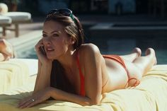 Pin for Later: The Best Bikini Moments in Movies Sasha Barrese, The Hangover Lounging by the pool in a two-piece is a lot more relaxing than spending the weekend trying to find your missing BFF.