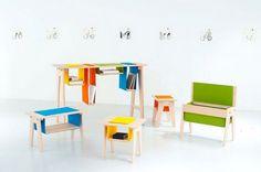 Colección de mobiliario infantil Felt & Gravity