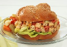 Quick and delicious with a jalapeno kick, this Boar's Head chicken salad sandwich features  full-flavored, crowd-pleasing EverRoast® Chicken. #BoarsHeadSummer #BestSummerEver