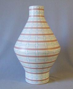 Alvino Bagni Tall Geometric Vase for Raymor