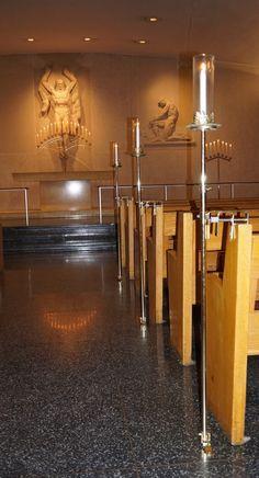 #vtwmc | Full Candlelight Package in Brass | Aisle Candles | War Memorial Chapel