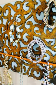 Easy and gorgeous! Make your own DIY jewelry holder with a rust patina finish | Modern Masters Metal Effects | DIY How-to by Average but Inspired