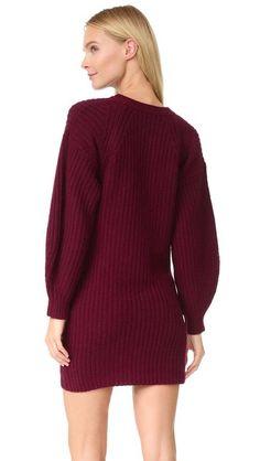 TSE Cashmere Claudia Schiffer x TSE Shaker Sweater Dress