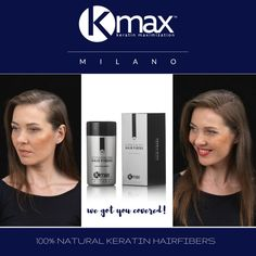 Con las fibras capilares K-Max, podrás tapar el cuero cabelludo que tiene poco pelo y parecerá que tienes mucha densidad capilar. American Crew, Keratin, L'oréal Professionnel, L'oréal Paris, Natural, Solution, Hair, Fiber, Transitioning Hair