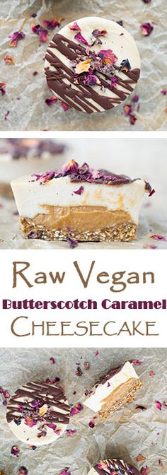 Raw Vegan Caramel Butterscotch Cheesecakes!