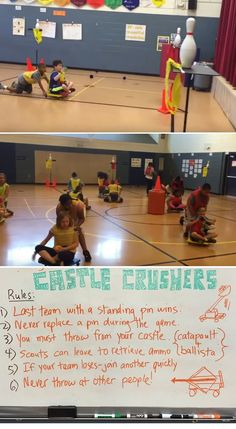 PE teacher Mike Ginicola shares how to play Castle Crushers, a great collaborative throwing activity
