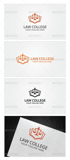 Law College Logo Template by Romaa Roma, via Behance