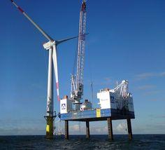 Liebherr - Crane operation: a offshore wind turbine erection