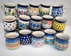 These cute lady mugs are waiting for you at slavicapottery.com :)  #Polish #pottery