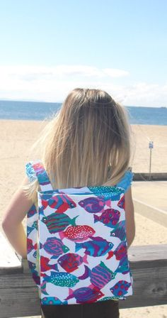 Fish Print Toddler/Child Backpack... 50% off by ThisandThatCrafter