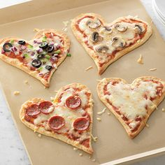 We Love Pizza - The Pampered Chef™  My daughters always looked forward to heart shaped pizza every Valentine's Day!