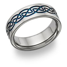 Titanium Wedding Rings mens titanium wedding band - - Shop a selection of men's Celtic wedding rings, including Celtic knot, Trinity knot, and Claddagh styles. Wedding Ring Advice, Custom Wedding Rings, White Gold Wedding Rings, Wedding Rings For Women, Wedding Ring Bands, Wedding Ideas, Wedding Stuff, Wedding Photos, Dream Wedding