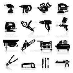 conjunto de iconos de herramientas industriales - Ilustración de stock: 22895408