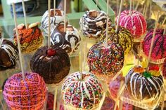 colorful candy apple buffet