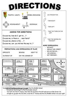Places: giving directions worksheet - Free ESL printable ...