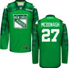 New York Rangers Jersey -  27 Ryan McDonagh Green St. Patrick s Day Jersey  Keith e67d71555